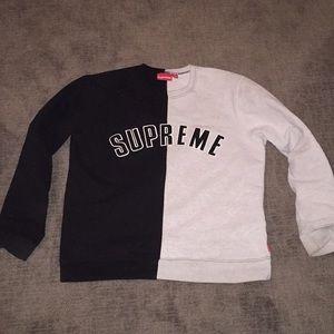 Authentic Supreme Split Crewneck Jacket